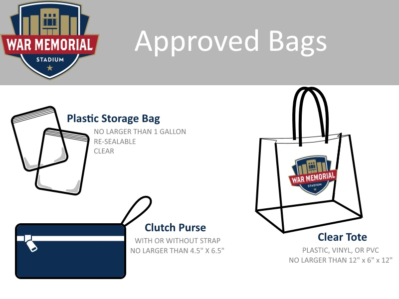 Bags approved for War Memorial Stadium